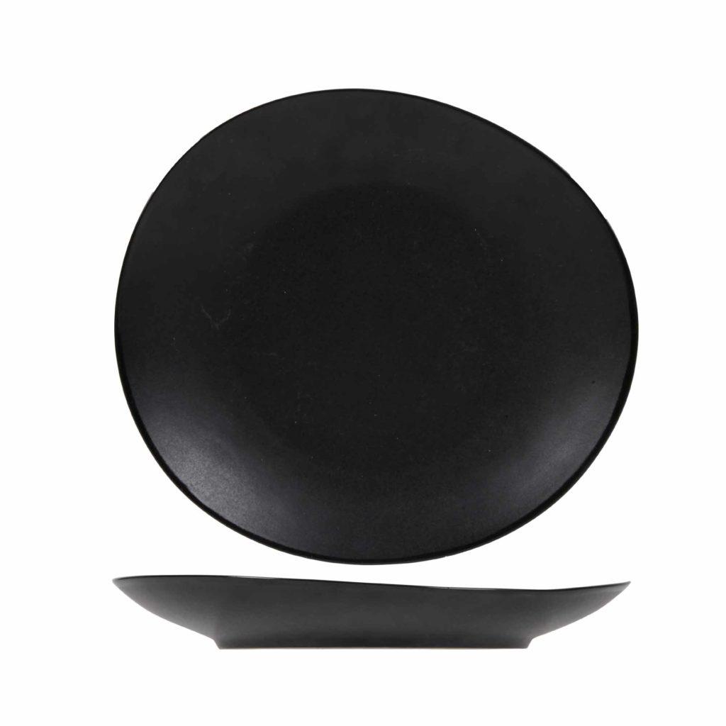 assiette a dessert noire