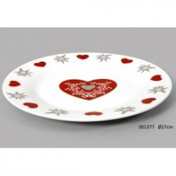 Exemple assiette plate style montagne vaisselle maison - Vaisselle style montagne ...