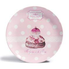 coffret 6 assiettes a dessert cupcake