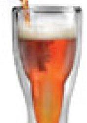verre biere a l'envers