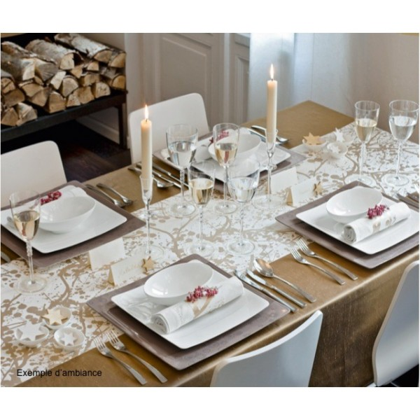Achat service de table moderne casa vaisselle maison - Service de table design ...