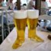 verre a biere en forme de botte