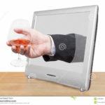 verre a eau penche