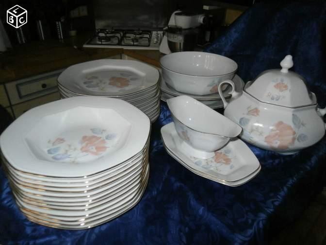 Service de table octogonal - Service vaisselle original ...