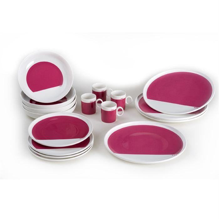 Service de table fushia - Cuisine rose fushia ...