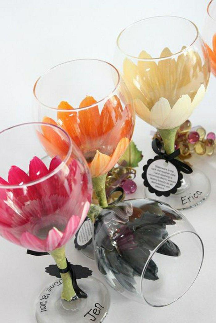 achat verre a vin nom fleur vaisselle maison. Black Bedroom Furniture Sets. Home Design Ideas