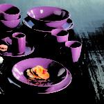 assiette creuse de couleur
