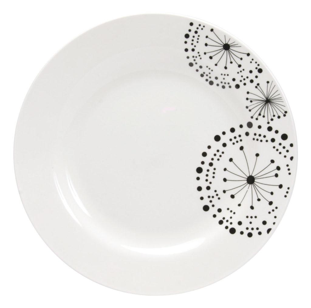 prix assiette plate noire et blanche vaisselle maison. Black Bedroom Furniture Sets. Home Design Ideas
