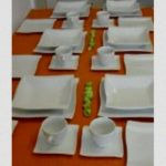 service de table blanc 12 personnes