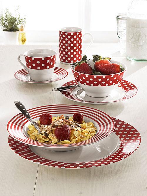 Service de table a pois - Carrefour vaisselle de table ...