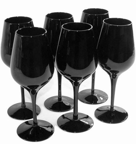 prix verre a cocktail pied noir vaisselle maison. Black Bedroom Furniture Sets. Home Design Ideas