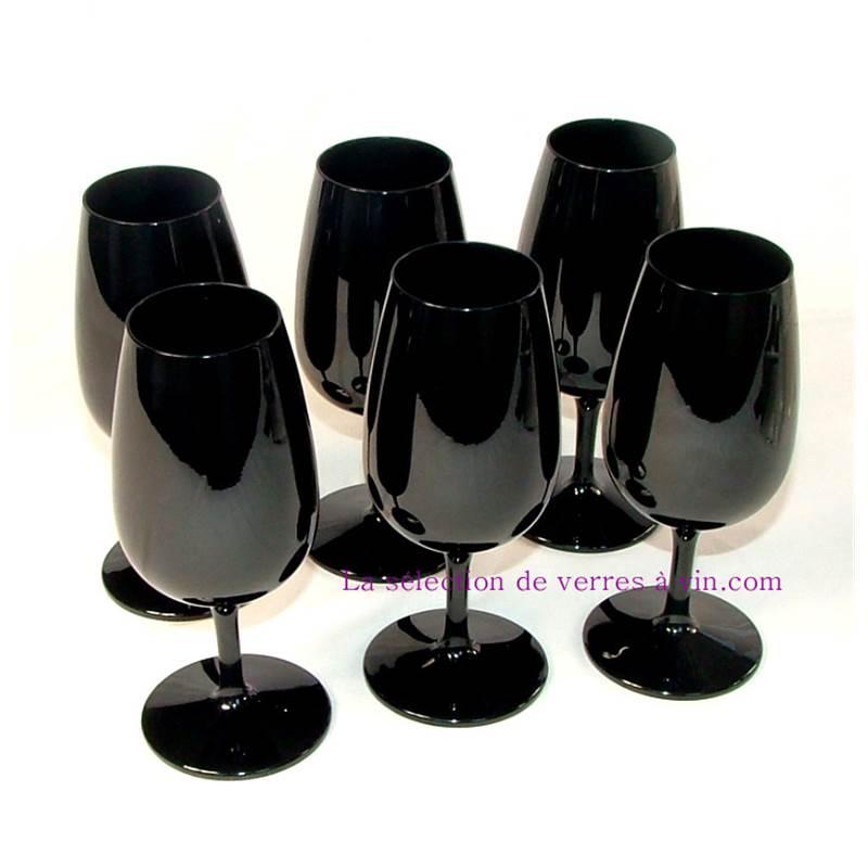 ambiance verre a pied noir opaque vaisselle maison. Black Bedroom Furniture Sets. Home Design Ideas