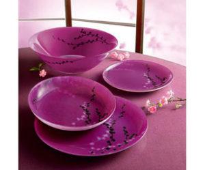 service de table 18 pieces en porcelaine oleane