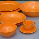 service de table orange