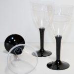 verre a eau de couleur noire