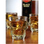 verre a whisky tete de mort