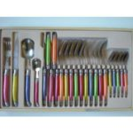 menagere laguiole 24 pieces domaine en inox forge