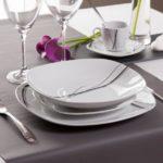 service de table 18 pieces en porcelaine liane