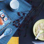 service de table motif japonais
