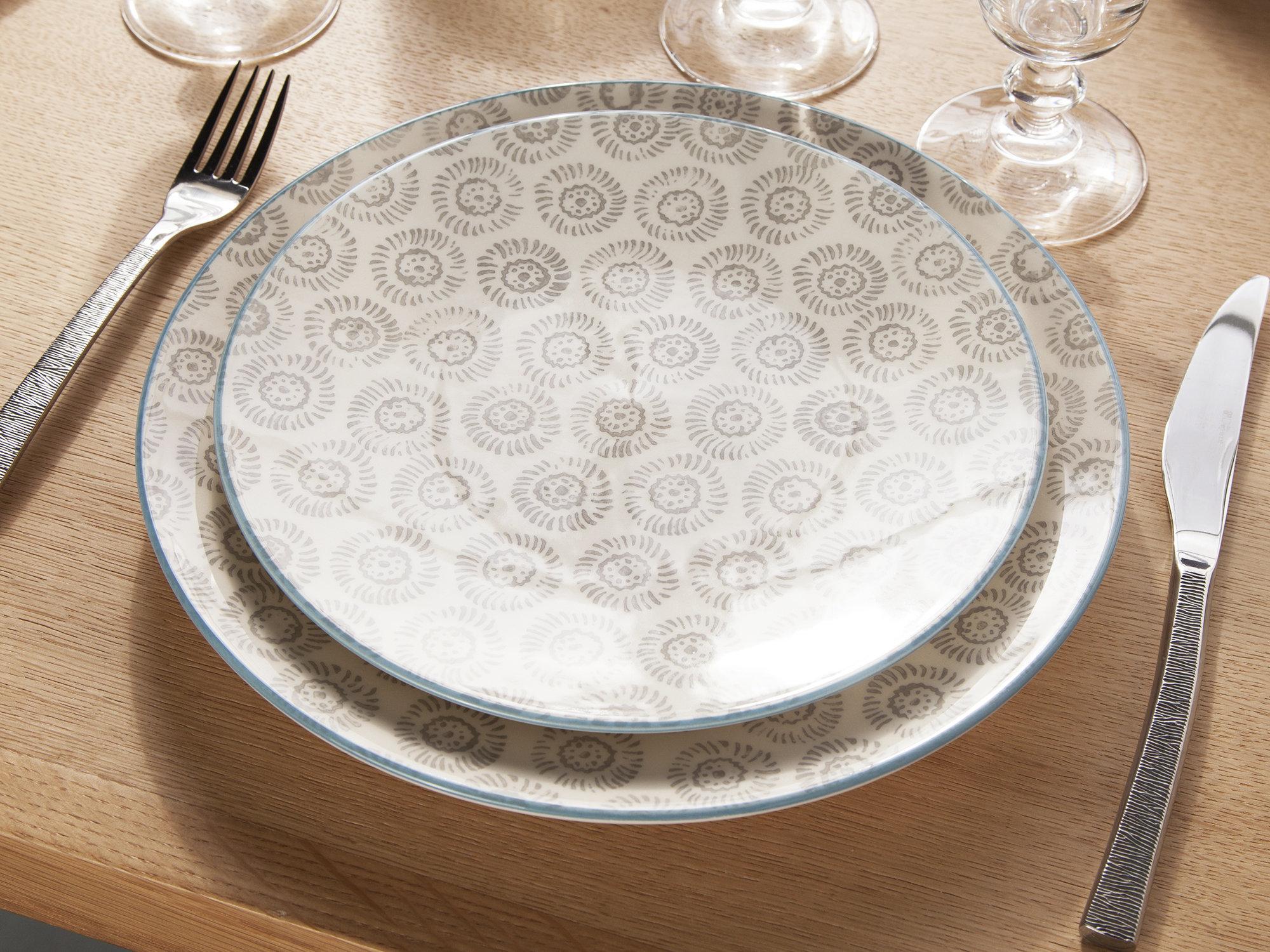 72696a134ebcc8 avis service de table peint a la main - Vaisselle Maison