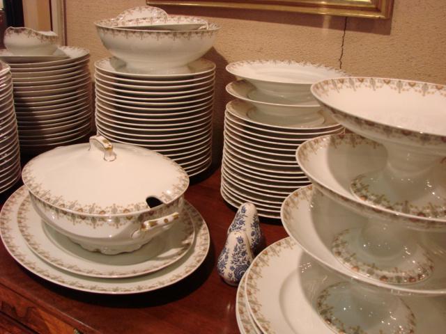 service de table en porcelaine de limoges