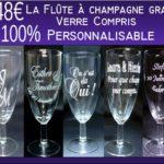 flute a champagne gravee bapteme