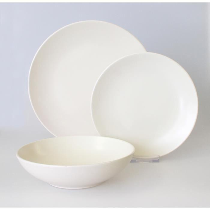 service de table faience blanc