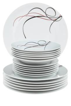Avis service de table noir et blanc pas cher vaisselle maison - Service de table pas cher ...