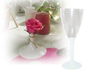 verre a vin jetable blanc