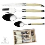 menagere laguiole 24 pieces nacre ivoire
