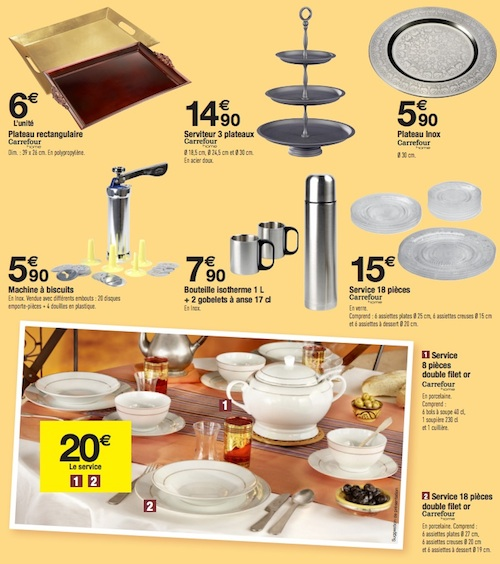 Service de table carrefour - Carrefour vaisselle de table ...
