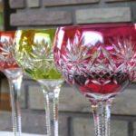 verre a pied cristal couleur