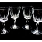 verre a pied cristal d'arques