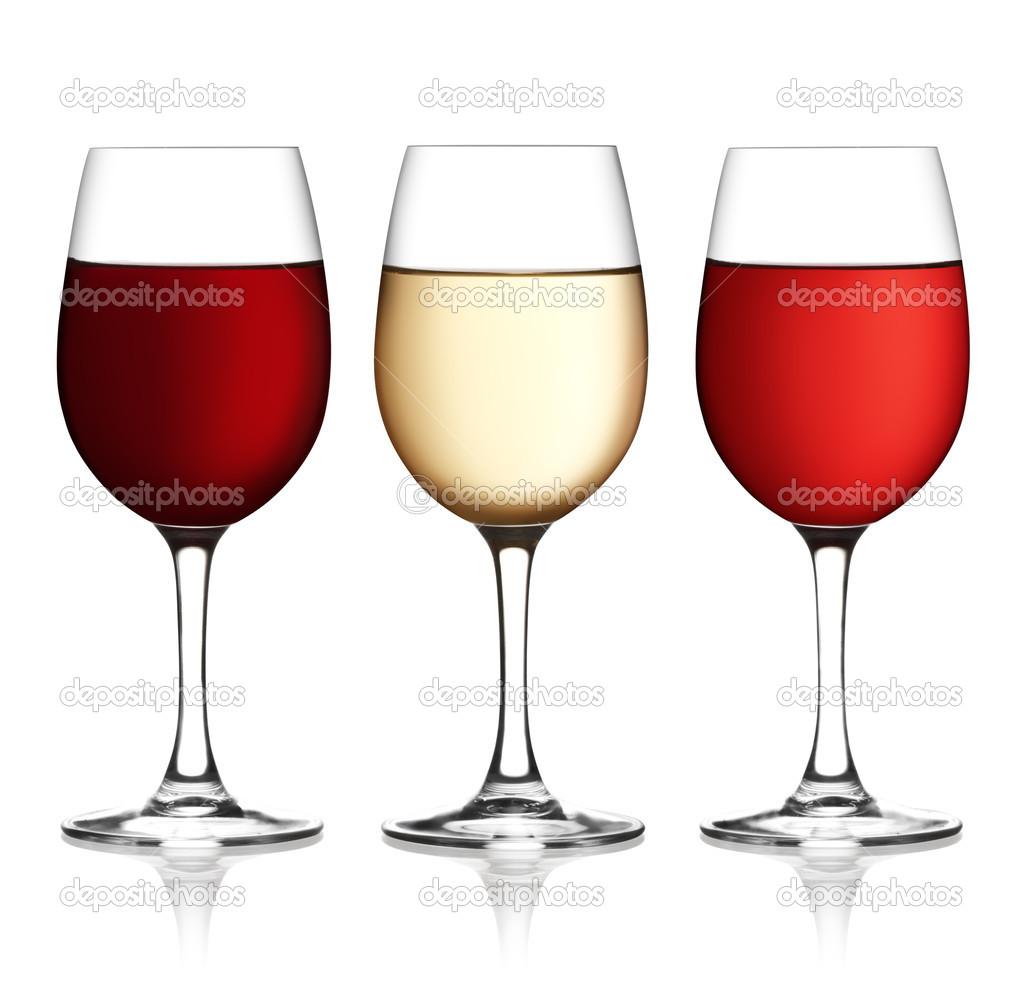 verre a vin rouge et blanc