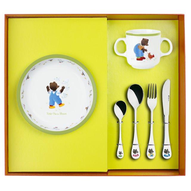 assiette creuse petit ours brun
