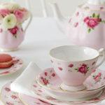 service de table anglais rose