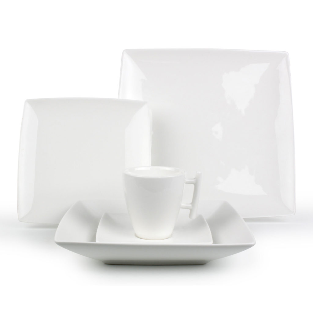 Prix service de table blanc design vaisselle maison - Service de table design ...
