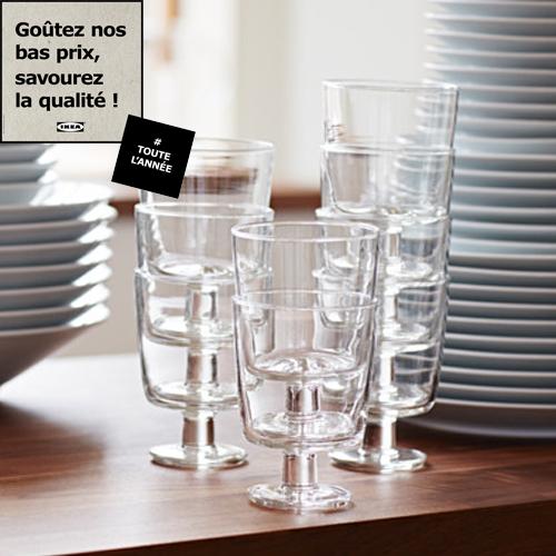 ambiance verre a eau pas cher ikea vaisselle maison. Black Bedroom Furniture Sets. Home Design Ideas