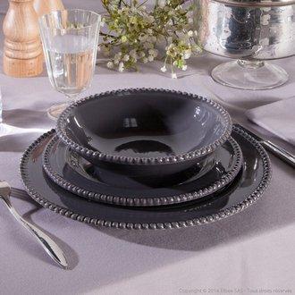 prix service de table gris et rouge vaisselle maison. Black Bedroom Furniture Sets. Home Design Ideas