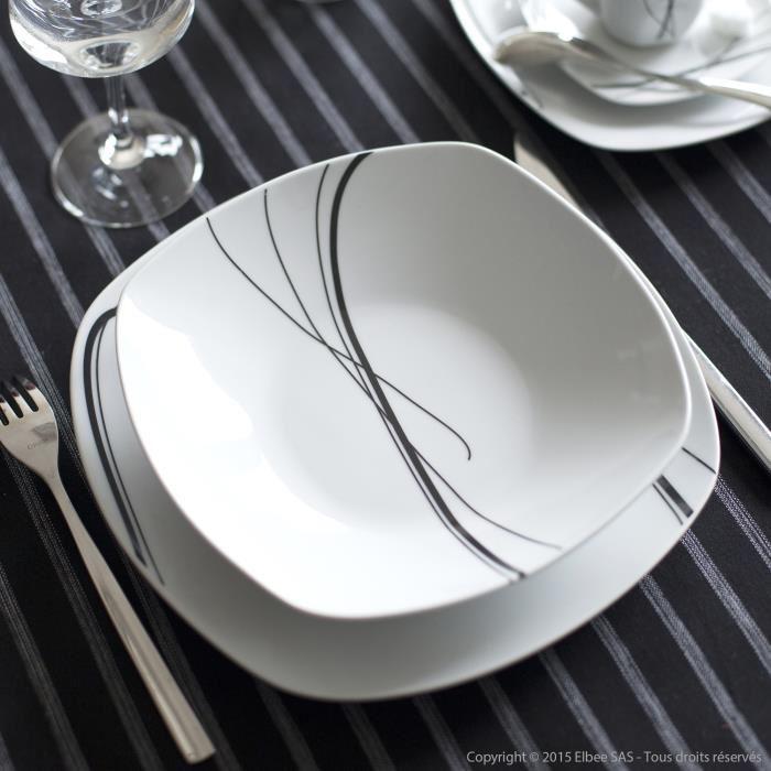 service de table rectangulaire pas cher vaisselle maison. Black Bedroom Furniture Sets. Home Design Ideas