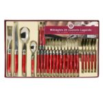 laguiole production menagere 24 pieces rouge