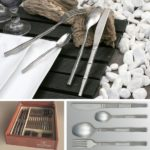 menagere 24 pieces bambou - inox