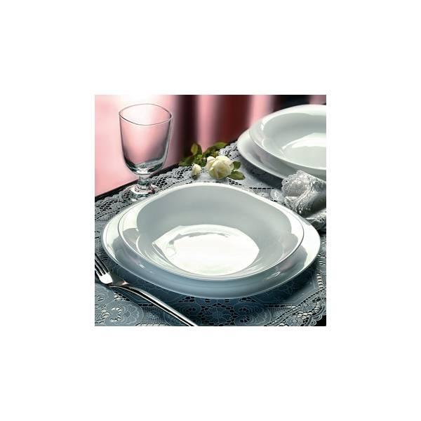 service de table 19 pieces en opal verre - blanc parme be0feb65fd9