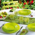 service de table en verre