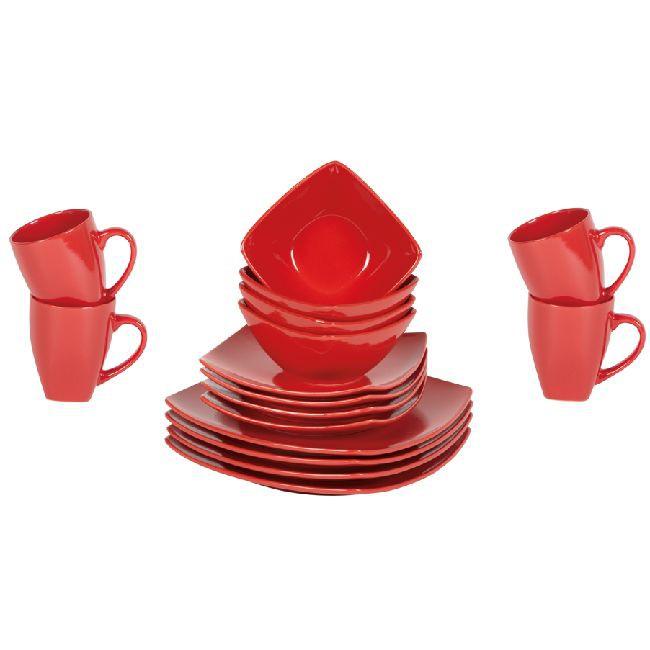 service de table rouge hoze home. Black Bedroom Furniture Sets. Home Design Ideas