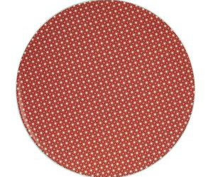 assiette plate rouge