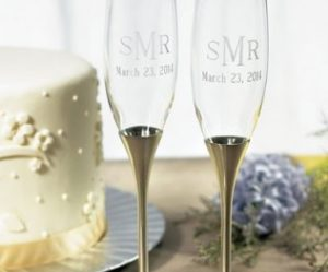 flute a champagne gravee mariage