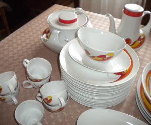 service de table annee 70