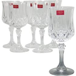 verre a pied en diamax transparent - lot de 6 longchamp