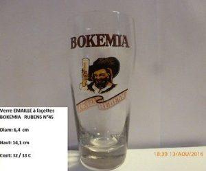 verre biere emaille ancien